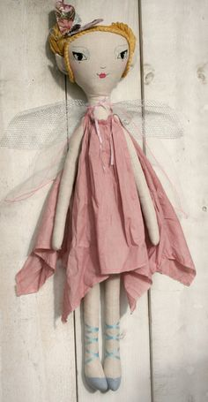 Handmade fairy cloth doll, Original design by LolawithLoveDolls, $125.00