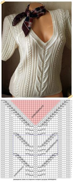 pattern the 529th central motive for a jacket | the catalog knitted spokes of patterns