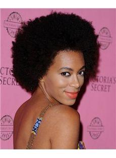 Women 120% Short Curly Full Lace Cap Human Hair