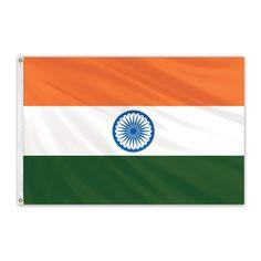 India Outdoor Nylon Flag #FlagCo #OutdoorFlag #India