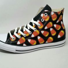 314d9d11b74d82 Candy Corn Converse Black High Tops. Timberland OutfitsNike TimberlandConverse  FashionConverse StyleConverse ShoesCustom ...
