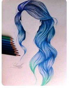I wish my hair would look that perfect except Brown not blue