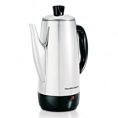 Tense Coffee Percolator 12 Cup Stainless Steel Coffee Pot Hamilton NEW Beach Percolator Coffee Maker, Coffee Brewer, Coffee Cups, Espresso Coffee, Coffee Maker Reviews, Best Coffee Maker, Hamilton Beach, Organizer, Kettle