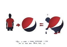 The logic behind the Pepsi Logo by Mohamad Turky - Lost At E Minor: For creative people Pepsi Ad, Pepsi Logo, Coca Cola, Type Logo, Clever Advertising, Visual Diary, Logo Google, Creative Words, Creative People