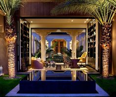 You don't have to travel to Morocco to get the look and feel of an authentic Moroccan riad. - Casbah Cove: Luxury Moroccan Riad in Palm Desert Moroccan Home Decor, Moroccan Interiors, Moroccan Design, Moroccan Style, Modern Moroccan, Palm Desert, Luxury Life, Luxury Homes, Style Villa