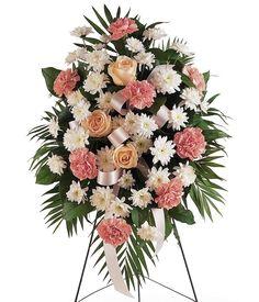 How to Make Casket Arrangement   Funeral Flowers, Flower Arrangements, Sprays & Wreaths
