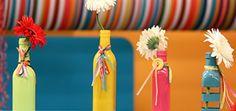floreros reciclados de botellas de vidrio - Buscar con Google