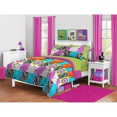Zebra Bedroom redo for my daughter Some purchased items and