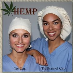 Green Scrubs - Tie Bonnet Hat - Hemp Twill