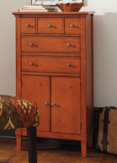 the chloe tall chest is the right size to bring new life to nooks corners burnt orange furniture
