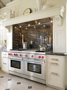 Beautiful Stove Setting!!! I would like it better with stone in the alcove