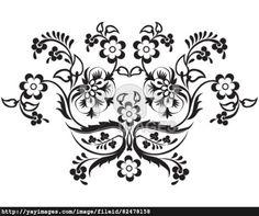 black oriental ottoman design nine