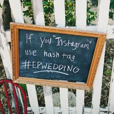 Have guests use a hashtag so you can find all the pictures they take!