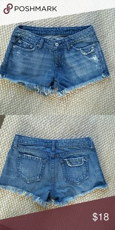 Denim Shorts Cute cutoffs for Summer,  100% cotton, worn one time, great condition New York & Company Shorts Jean Shorts