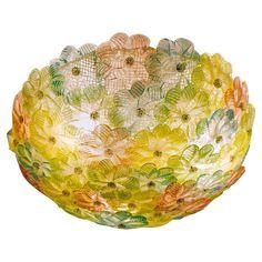 lampadari swarovski moderni : Roxette plafoniera con rosette cristallo oro cm 45, by Lucicastiglione ...