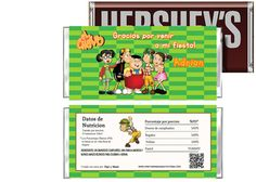 El Chavo del Ocho Birthday Candy Bar Wrappers Party Favors