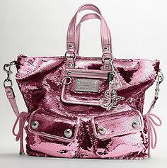 coach pink sequins <3
