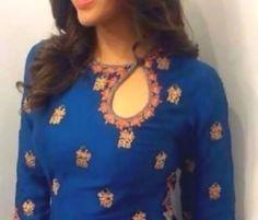 Salwar Designs, Punjabi Suit Neck Designs, Kurta Designs Women, Kurti Designs Party Wear, Latest Kurti Designs, Kurti Back Neck Designs, Salwar Kameez Neck Designs, Simple Kurti Designs, Chudidhar Neck Designs