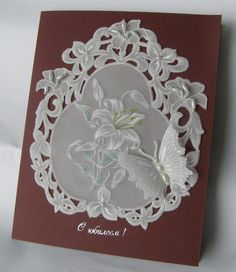 Pergamano (Parchment Craft)� Lily and butterfly