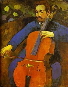 Gauguin, Paul (1848-1903) - 1894 The Cellist (Portrait of Upaupa Scheklud), via Flickr.