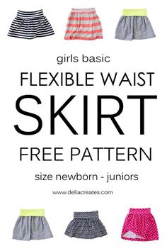 FREE flexible waist skirt pattern... @maggiedwards will you make me a skirt (or 4) for my birfday?! We can go pick out material and make it a date!