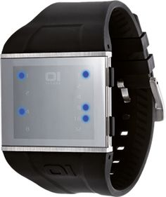 01TheOne Slim Square Binary Watch: the face of this actually looks like a mirror.
