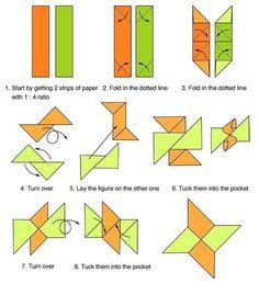 Les dejo este tutorial en la escuela jugaba mucho con esto!!!  #origami #geek #friki