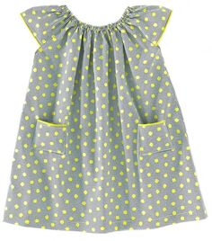 claradeparis.com ♥ this polka dots dress. Am so used to seeing my little tomboy in Jeans and a top, I'm not sure if something like this would suit her.