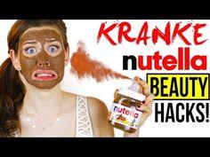WAS DU MIT NUTELLA KRANKES MACHEN KANNST! BEAUTY DIY NUTELLA HACKS im LIVE TEST! - YouTube