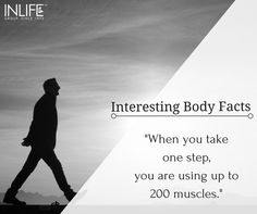 Here is an unbelievable fact we are sure you didn't know about! #Bodyfacts #Humanbody #Walk