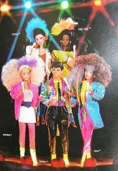 Barbie and the Rockers - I always liked the one with reddish brown hair the best. Can't for the life of me remember her name. My mom ran a daycare, and me and two of the daycare kids would play for *hours*.