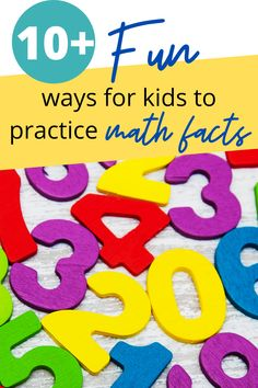 Over 10 ways for your kids to practice their math facts and have fun! Play math facts games. Explore math fact websites. Read math fact books. Learn math facts while having fun. Homeschool Books, Homeschooling Resources, Math Fact Practice, Kids Learning Activities, Math Facts, Tot School, Early Education, Math Lessons, Teaching Math