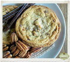 """Cookies de """"beurre noisette"""", pecanas y chocolate"""
