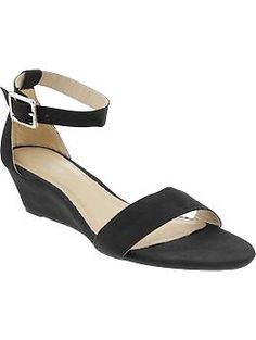 Womens Sueded Demi-Wedge Sandals
