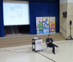 Teaching kids how-to-draw at Union Elementary.   http://www.harptoons.com/school-visit.html