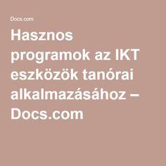 Hasznos programok az IKT eszközök tanórai alkalmazásához – Docs.com