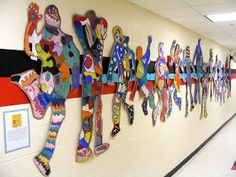 Field Elementary Art Blog!   Silhouettes  This blog has amazing ideas for Art projects! One teacher says:  What a great way to decorate the hallway!