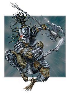 Predator half of the alien v predator scratchboard piece. Wolf Predator, Predator Movie, Alien Vs Predator, Aliens, Predator Cosplay, Giger Alien, Giger Art, Alien Creatures, Xenomorph
