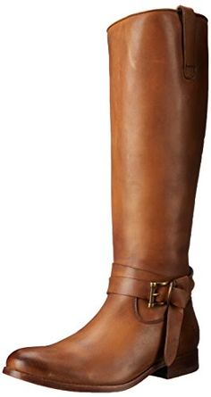 475f8d3eb651 FRYE Women s Melissa Knotted Tall Riding Boot Knee-length equestrian boot  with knotted strap and buckle at ankle Half-length zip at inner ankle