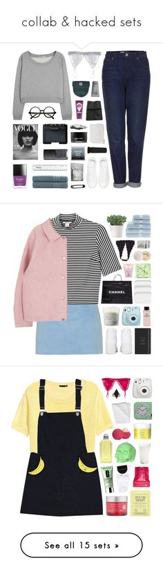 """collab & hacked sets"" by hhuricane ❤ liked on Polyvore featuring Butter London, Fleur of England, Topshop, T By Alexander Wang, Linum Home Textiles, NARS Cosmetics, Diamond Supply Co., MAKE UP FOR EVER, Anine Bing and Acne Studios"