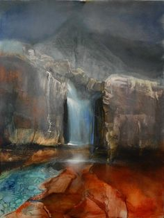 Fairy Pools, Waterfall by Beth Robertson Fiddes