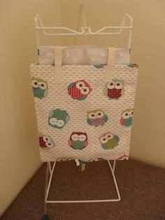 Owl Themed Catheter Night Bag Cover