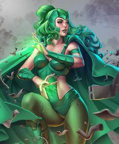 Marvel Comic Universe, Marvel Art, Marvel Girls, Comic Books Art, Comic Art, Polaris Marvel, Xmen Cosplay, Marvel Heroines, X Men Evolution