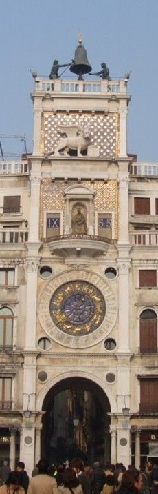 St Mark's Clocktower, Venice.....it was in repair when I saw it, luckyly they put a giant copy of it for us to see