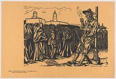 Fernando Castro Pacheco | Plate 45: the begining of the American intervention on 21 April 1914, from the portfolio 'Estampas de la revolución Mexicana' (prints of the Mexican Revolution) | The Met