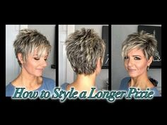 Hair Tutorial: Styling a Longer Pixie without Spikes Hair Tutorial: Styling a Longer Pixie without Spikes! Hair Tutorial: Styling a Longer Pixie without Spikes! Long Pixie Cuts, Short Pixie Haircuts, Pixie Hairstyles, Short Hair Cuts, Haircut Short, Haircut Styles, Wedding Hairstyles, Short Choppy Hair, Hairstyles 2018