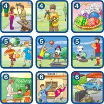 2 Sequencing Pictures, Weather Seasons, Speech Therapy, Comics, Learning, Cards, Bingo, Costa Rica, Vocabulary