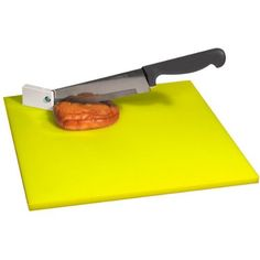 Easy Chopper: Cutting board with pivot knife. Colored board provides hi contrast for low vision users  #Chopper