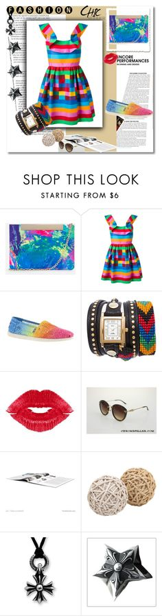 """Untitled #173"" by umay-cdxc ❤ liked on Polyvore featuring Nila Anthony, Valentino, Skechers, TOMS, Manic Panic NYC and Chrome Hearts"