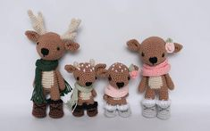 Note: This listing is for a crochet pattern only - it is not the finished dolls! The Deer Family crochet pattern includes a detailed photo tutorial on how to crochet these adorable deer and their accessories. You will need to know basic crochet and amigurumi skills such as: how